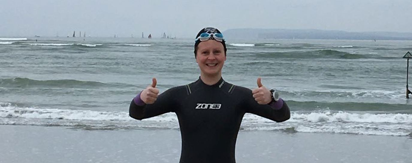 From knee injury to swimming the Solent